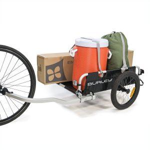 Bike cargo trailer in action